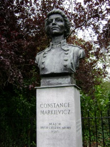 The statue in Stephen's Green