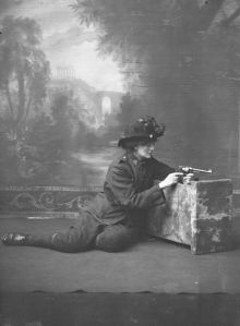 Constance with her gun