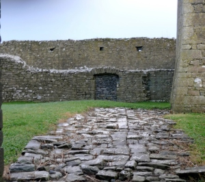 The walls from the ground floor